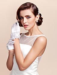Недорогие -атлас запястье длина перчатки цветок девушка перчатки с луком элегантный стиль