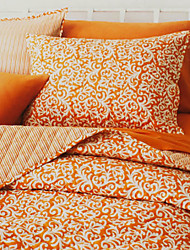 huani® Quilt-Set, 3-teilig 100% Baumwolle ländlichen Stil Aprikose Arabeske