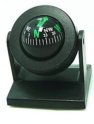 cheap -Adjusting Ball Style Car Compass - Black