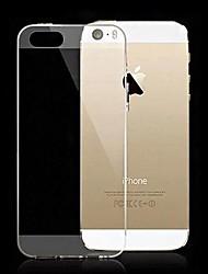 For iPhone 5 etui Ultratyndt Transparent Etui Bagcover Etui Helfarve Blødt Silikone for iPhone SE/5s/5