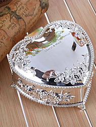 cheap -Gifts Bridesmaid Gift Personalized Embossed Floral Heart Shaped Zinc Alloy Jewelry Box