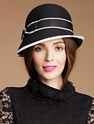 Women's Flower Girl's Wool Headpiece-Special Occasion Casual Outdoor Hats
