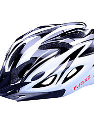 cheap -FJQXZ EPS+PC Black and White Integrally-molded Cycling Helmet(18 Vents)