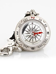 T49 Multi-function Liquid-Filled Pirate Compass Strap / Keychain - Silver