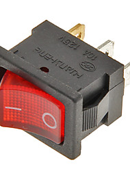 economico -interruttore a 3 pin on / off (rosso&nero, 6a, 250V AC / 10a, ca 125V)