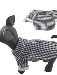 Gatti Cani T-shirt Nero Abbigliamento per cani Estate Primavera/Autunno A quadri Casual