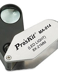 Pro'sKit MA-014 8X LED Illuminated Magnifier (O21mm)