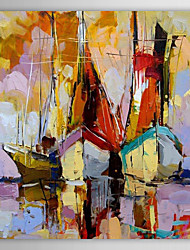 IARTS®Hand Painted Oil Painting Landscape Thicked Painted Sailing Boat with Stretched Frame