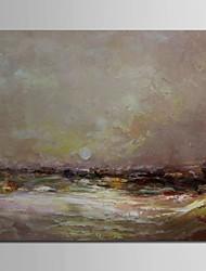 iarts®hand pintado pintura de paisagem óleo espesso pintado nascer do sol sobre o mar, com quadro esticado