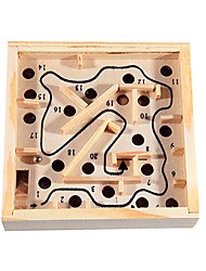 cheap -Maze Wooden Labyrinth Toys Fun Wood Classic Pieces Children's Gift