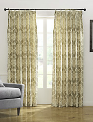 cheap -Two Panels Curtain Country Bedroom Poly / Cotton Blend Material Curtains Drapes Home Decoration For Window