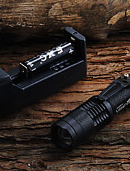 LED Flashlights/Torch Handheld Flashlights/Torch LED 450 Lumens 1 Mode Cree XR-E Q5 Adjustable Focus for Camping/Hiking/Caving Everyday