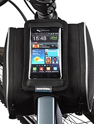 Bike Bag 1.8LBike Frame Bag Cell Phone Bag Dust Proof Touch Screen Bicycle Bag PU Leather Polyester PVC Cycle BagSamsung Galaxy S4 Iphone