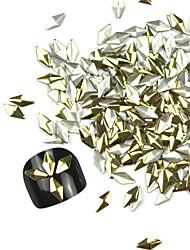 abordables -De 300PCS 3D Golden Nail Art Rhombus aleación de oro y plata Decoraciones