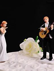 Недорогие -Украшения для торта Персонализированные не Классическая пара Смола Свадьба Белый / Черный Цветы / Классика Подарочная коробка