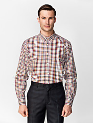 maniche lunghe classiche / semi semplificate nere&Marrone&rosso&camicia bianca 100% della camicia del cotone per i vestiti