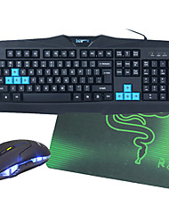 cheap -Wired Mouse keyboard combo with Mouse Pad Backlit USB Port Gaming keyboard