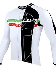 ILPALADINO Cycling Jersey Men's Long Sleeves Bike Jersey Top Bike Wear Thermal / Warm Quick Dry Ultraviolet Resistant Breathable Patchwork