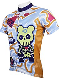 ILPALADINO Muškarci Kratkih rukava Biciklistička majica Crtani film Bicikl Biciklistička majica, Quick dry, Ultraviolet Resistant,