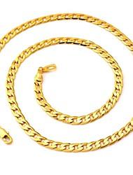 abordables -Mujer Forma de Círculo Moda Collares de cadena Chapado en Oro Collares de cadena , Boda Fiesta Diario Casual