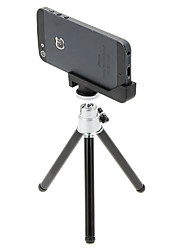 economico -I-12-3-SL Mini Desktop treppiede in alluminio con Single-deck tre sezioni e iPhone 5S / 5 Tripod Mount Holder