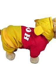 baratos -Gato Cachorro Casacos Capa de Chuva Roupas para Cães Animal Amarelo Algodão Ocasiões Especiais Para animais de estimação