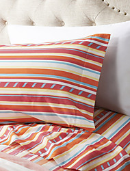 cheap -Sheet Set - Microfibre Pigment Print Stripe 2pcs Pillowcases (only 1pc pillowcase for Twin or Single)