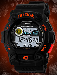 cheap -SKMEI Men's Digital Watch Wrist watch Digital Calendar / date / day Chronograph Water Resistant / Water Proof LCD Rubber Band Charm Black