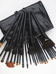 cheap -32pcs Makeup Brushes set Horse/Pony/Goat Hair Professional Black Foundation/Blush brush Shadow/Eyeliner/Lip/Brow/Lashes Brush With Free Case