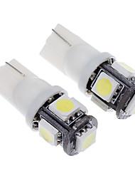 T10 Automatique Blanc froid 1.5W 6000 Lumières pour tableau de bord Lampe de lecture