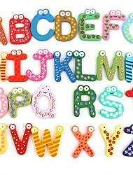 Недорогие -Смешные Магнитные Алфавит 26 Письма Деревянный магниты на холодильник Обучающие Детские игрушки (26-Pack)