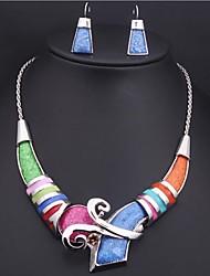 abordables -Mujer Vintage Fiesta Moda Nupcial Colorido Europeo Juego de Joyas Piedras preciosas sintéticas Legierung Juego de Joyas , Boda Ocasión