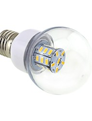 cheap -4W E26/E27 LED Globe Bulbs G60 27 SMD 5730 500lm Warm White 3000~3500K DC 12 AC 12 AC 24 DC 24V 1pc