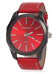 Women's Fashion Watch Wrist watch Quartz Band Black White Red Brown