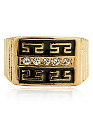 cheap -Men Jewelry 2014 Ring 18K Gold Filled Polish Gold Jewelry Rhinestone Rings for Men