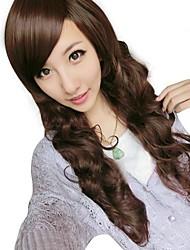 ondulati parrucca Bang lato sintetico delle donne