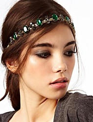 Women Alloy/Gemstone Head Chain , Party/Casual