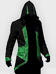 Inspired by Assassin Cosplay Video Game Cosplay Costumes Cosplay Hoodies Print Black Long Sleeve Coat