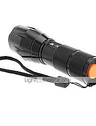 cheap -UltraFire A100 LED Flashlights / Torch LED 2000/1200/1600 lm 5 Mode Cree XM-L T6 with Battery and Charger Zoomable Nonslip grip