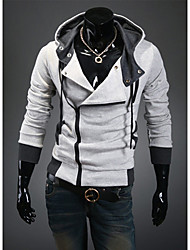Недорогие -Муж. Мода Брюки - Однотонный Синий / Капюшон / Длинный рукав