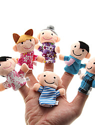 cheap -Family Finger Puppets Puppets Cute Novelty Lovely Parent-Child Interaction Family Interaction Lovely Plush Boys' Girls'