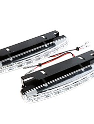 2X Super Bright White 8 LED DRL Car Daytime Running Light Head Lamp
