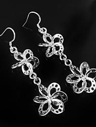 Недорогие -серьги падение серьги ювелирные изделия ежедневно циркон / серебро покрытием элегантный стиль