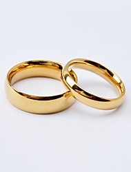 cheap -Women's Titanium Steel Gold Plated Couple Rings Band Ring - Round Love Fashion Simple Style For Wedding Anniversary Engagement Gift Daily