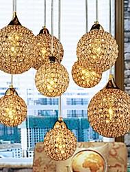 Moderno/Contemporâneo Esfera Cristal Luzes Pingente Luz Descendente Para Quarto Sala de Jantar Corredor Branco Quente 110-120V 220-240V