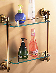 cheap -Bathroom Shelf Antique Aluminum Glass Aluminum
