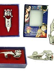 Bijoux Inspiré par One Piece Cosplay Anime Accessoires de Cosplay Anneau Argenté Alliage Masculin