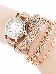 Недорогие -CCQ искусственная кожа Женщины платье часы с горный хрусталь-10