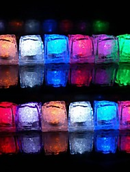 12pcs Color Changing Ice Cubes LED light Party Wedding Bar Restaurant