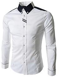 muške rever vrat plašt kontrast boja majica